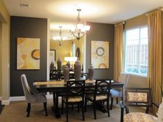 contemporary dining room design 40 -  VE ESTA IDEA, ALEJANDRO!! El espejo esta en la mitad de la pared y se ve como si hubiera otro cuarto al fondo!
