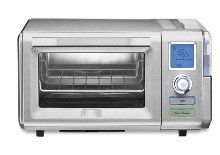 The Cuisinart CSO-300 Combo Steam + Convection Oven gets great reviews and ranks high on the list of best countertop convection ovens primarily because of the steam feature, not seen in any other countertop oven models.