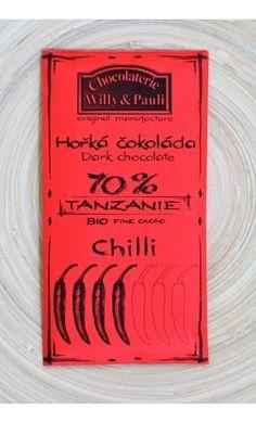 Chocolaterie Willy a Pauli BIO Hořká čokoláda Tanzanie s chilli Tanzania