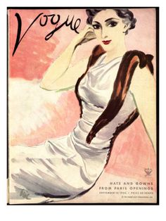 """Vogue Cover - September 15 1933 Poster Print by Carl """"Eric"""" Erickson at the Condé Nast Collection"""
