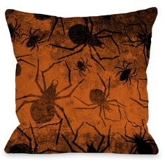 All Over Spiders Throw Pillow