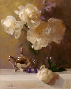 """Dennis Perrin - """"Peonies and Silver"""""""
