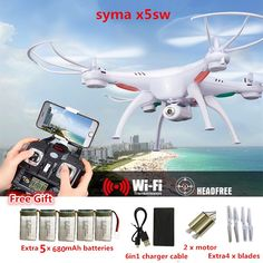 Info Price US $57.99 RC Drone Syma X5SW FPV RC Quadcopter Drone with Camera 2.4G 6-Axis RC Helicopter Drones With Camera HD VS JJRC H31 H33  #drone #quadcopter #camera #helicopter #drones