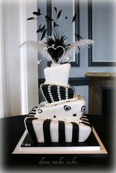 Topsy Turvy Wedding Cake by donna_makes_cakes, via Flickr