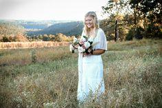 Wood Fern Floral Design Outdoor Arkansas Wedding