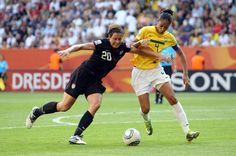 Abby+Wambach in Brazil v USA: FIFA Women's World Cup 2011 - Quarter Finals