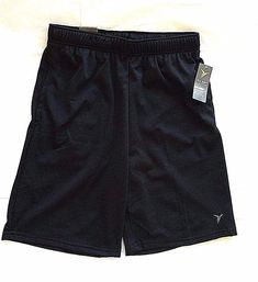 Go Dry Active Old navy Men's Pocketed Athletic Mesh Shorts at the knee Size M #OldNavy #Shorts