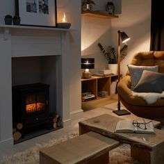 Weekends are for taking it slow by the fire. Relax in a comfy armchair surrounded by cushions.