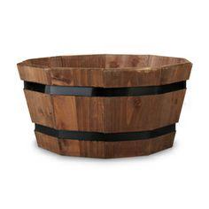 "Pennington 8""H x 16""W x 16""D Espresso Wood Planter"