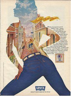 Levis Blue Jeans 1983 Vintage Ad