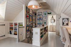 Attic playroom and art wall