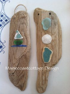 Set Of Driftwood Natural Sculptured Christmas by MaineCoastCottage