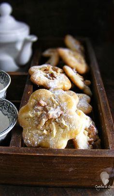 Galletas de aceite con manzana y nueces