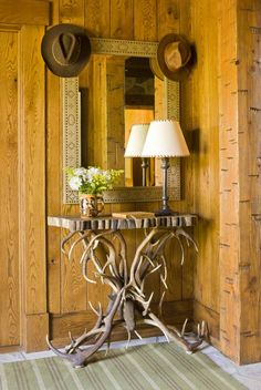 Antler table - www.cullmankravis.com Colorado Mountain Ranch - #WesternHome