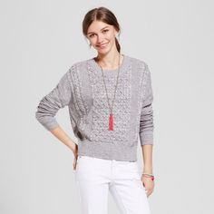 Women's Pullover Sweater - Mossimo Supply Co. Gray S