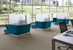 Steelcase Design Director Markus McKenna Explains the Brody Micro-Cubicle - Office Lounge, Office Seating, Lounge Seating, Outdoor Seating, Office Walls, Commercial Design, Commercial Interiors, Nasa, Office Pods