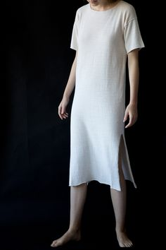 Lauren Manoogian Split Tee Dress Perla