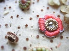 お花ビーズ刺繍の作り方
