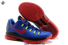 size 40 6124e 85e34 Nike Zoom Kevin Durant s KD V Elite Low Basketball shoes Royal Blue Red