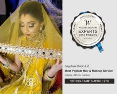 Hey friends & lovely supporters!  It's that time of year again! We have been working extremely hard to bring the best services we can to the YYC area. Please take a moment to vote for us for the Wedding Expert Award. The link is in our Bio  It only takes a couple of minutes go to the website vote & confirm! Thank you for all your ongoing support.  Link: In profile Bio  #sapphirestudioltd  #indianmakeup #makeupartist #indianbridal #bridalmakeup #wakeupmakeup #yycmakeupartist #yycweddings…
