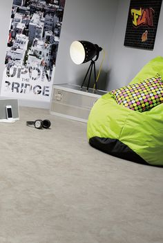 If you're looking for inspiration for your next flooring project then take a look at our designer vinyl flooring ranges. Search by room, design or trend. Best Flooring, Vinyl Flooring, Kitchen And Bath, Slate, Bean Bag Chair, Modern, House Design, Inspiration, Bedroom