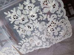 Fab-Vtg-Antique-Tambour-Net-Lace-Curtains-NOS-Unused-2-Pair-4-Panels-Tag