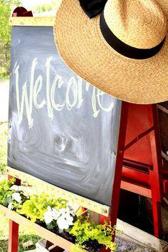Spring-ify the Chalkboard - Creative Cain Cabin