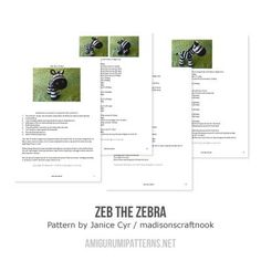Zeb the zebra amigurumi pattern - Amigurumipatterns.net