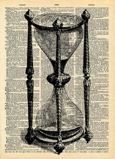 "Vintage Dictionary Print ""Hour Glass"""