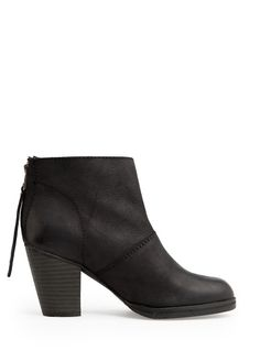 MANGO - Wooden heel leather ankle boots