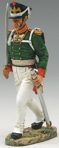 Napoleonic British Army NA137 Russian Officer Marching with Sword - Made by King and Country Military Miniatures and Models. Factory made, hand assembled, painted and boxed in a padded decorative box. Excellent gift for the enthusiast.