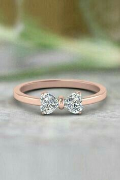 Heart Shaped Bow Anniversary Gifts with Diamonds in Rose Gold exclusively. - Future - 2 Heart Shaped Bow Anniversary Gifts with Diamonds in Rose Gold exclusively. Cute Jewelry, Jewelry Box, Jewelry Rings, Jewelery, Jewelry Stores, Jewellery Shops, Jewelry Making, Jewellery Designs, Jewelry Armoire