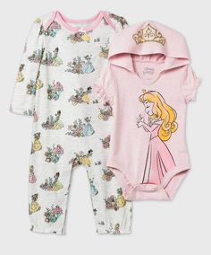 Disney Princess Babies, Princess Outfits, Baby Princess, Baby Disney, Girl Outfits, Disney Girls, Two Piece Clothing Sets, 2 Piece Romper, Disney Baby Clothes