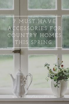 Spring has almost sprung and for many, the change in season presents the perfect opportunity to make some decorative alterations inspired by the change in scenery. Animal Fact File, Country Cushions, Hare Illustration, Fresh Meadows, Kitchen Window Sill, Herb Pots, Women Lifestyle, Country Homes, April Showers