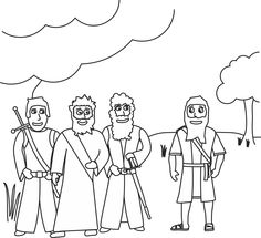 God Visits Abraham Coloring Page