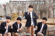Entitled 3/4 choose girls over food.... ;)