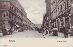 Žižkov - Husitská Czech Republic, Prague, Old Photos, Louvre, Street View, Architecture, Photography, Travel, Historia
