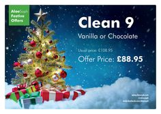 The famous clean 9, perfect for the party dress season.   I love the Aloe excitement and the Christmas countdown.   Message me to order or for any more details.   www.aloesoph.com  www.facebook.com/aloesoph