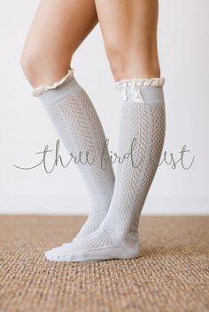 Ruffle Spandex Boot Socks