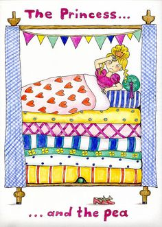 The Princess And The Pea  Painting by Sheila Charman