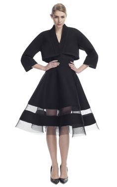 DKNY Kimono Bolero and sculpted circle skirt requires applause !