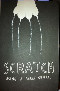 wreck this journal scratch pages | photo