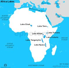 Where Is Lake Tanganyika On A Map Of Africa Africa Lakes Map, Lake Map of Africa | Lake map, Africa map, Africa