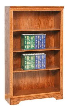 Amish Elegance Economy Bookcase Solid wood bookcase available in several wood types. Amish made to serve your home best.