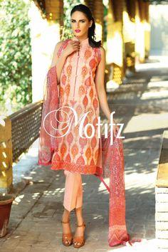 #motifzembroideredlawn #lawn #motifzlawn #motifz #brandedlawn MWU01008-999-LIGHT-PEACH Item Type: UN Stitched Three Piece, Shirt Fabric: Lawn, Includes: Front, Back, Sleeves, Crinkle Digital Printed Dupatta, Pure Cotton Trouser Retail Price: 5,890