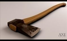 Axe 3D Model-   3D Max 2009 MentalrayIn archive:Axe.max,Texture - #3D_model #Other Weapons