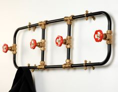 Nick Frazer coat rack from the pipe work series