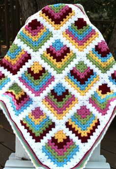 A mitered edge granny square blanket, this has to be my next blanket project.