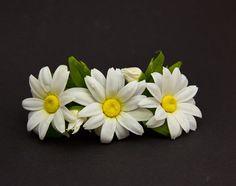 Hair Barrettes  Barrettes with daisies  Hair от JewelryFloren