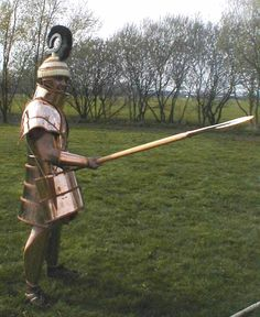 reconstruction of the Dendra Panoply -- the ones found at Dendra were dated to 15th Century, but examples of this armour are found as early as 1400 BCE.
